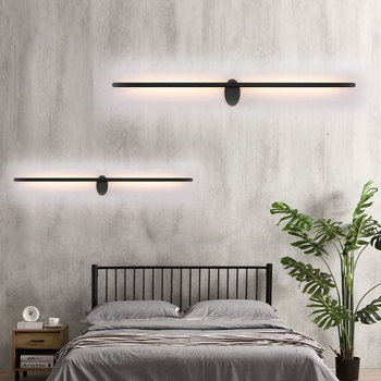 Modern Personalized long wall lamp LED minimalist stairway aisle lamp long rotating bedroom bedside lamp