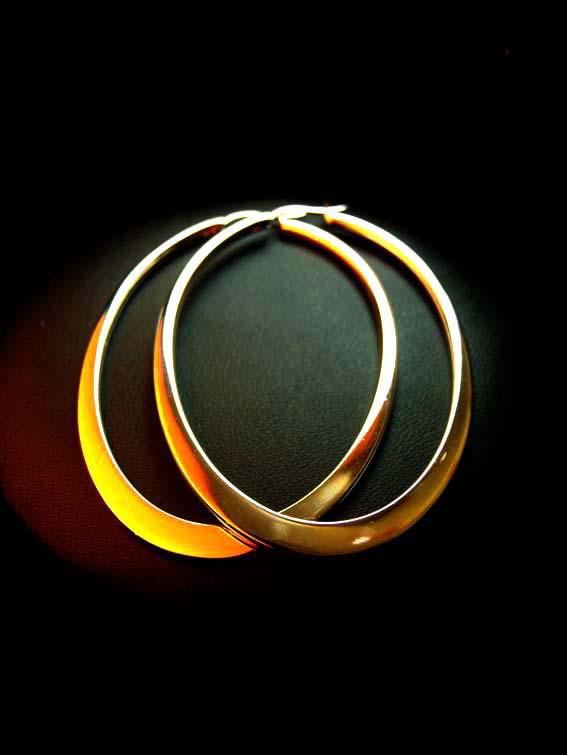 Minimalist Female Round Big Hoop Earrings Classic Rose Black Gold Silver Color Wedding Earrings For Women New Year Gifts