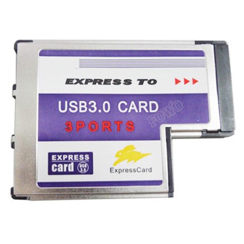 Venda quente de alta qualidade 3 porta escondida dentro usb 3.0 usb3.0 para expresscard express cartão 54 54mm adaptador conversor