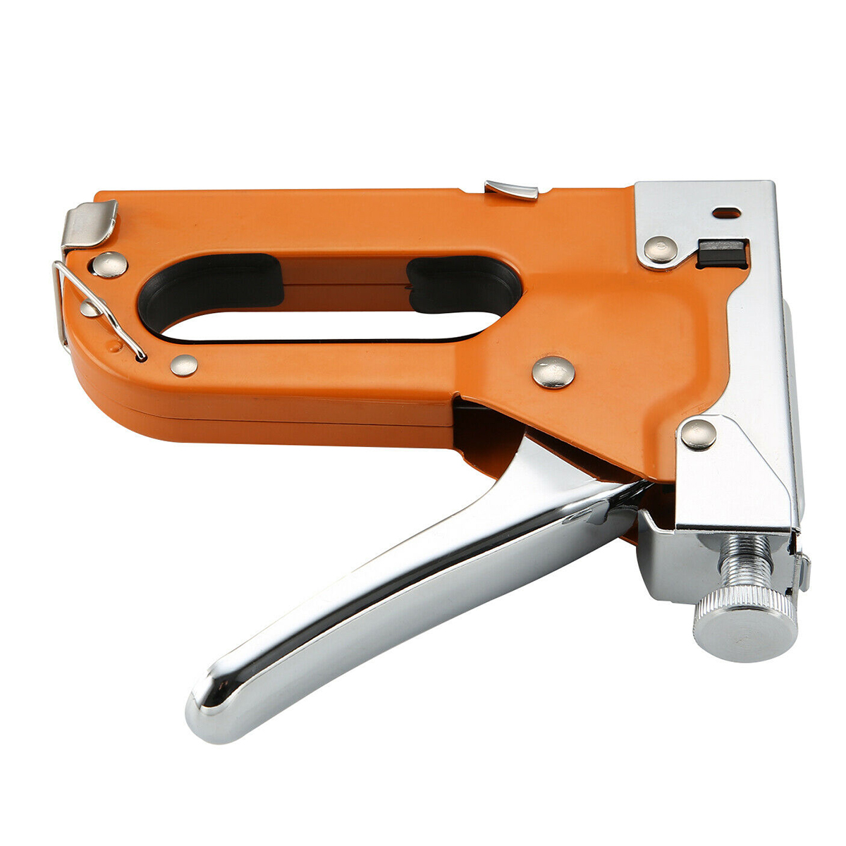 3-IN-1 Heavy Duty Manual Staple Gun Stapler Tacker With 600 Staple Tacker Hand Operated Steel Stapler Brad Nail