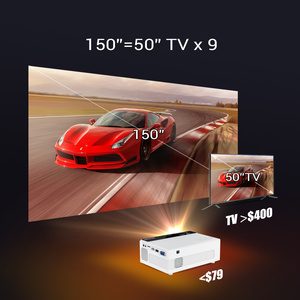 Image 2 - BYINTEK C520 Mini Hd Projector (Optioneel Android 10 Tv Box),150Inch Home Theater, draagbare Led Projector Voor Telefoon 1080P 3D 4K