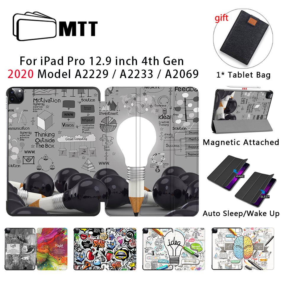 MTT Case For iPad Pro 12 9 inch 2020 Release Model A2229 A2233 Magnetic PU Leather
