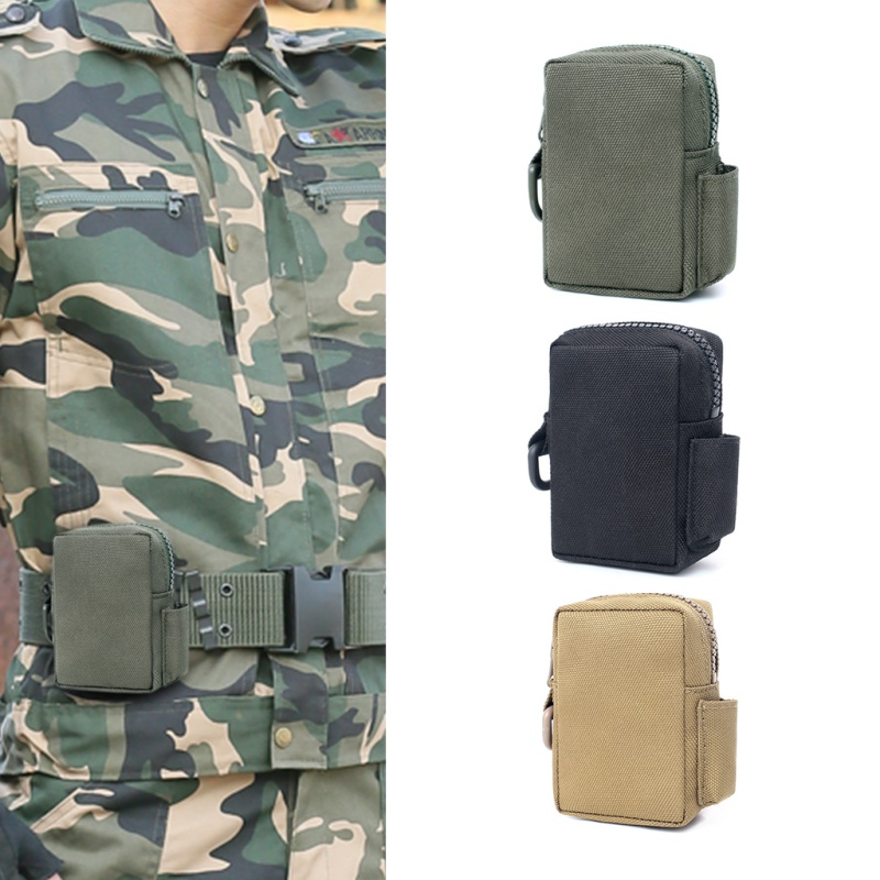 Tactical Mini Molle EDC Pouch Utility Waist Belt Pack Phone Holster Key Wallet Outdoor Army Military Accessories Hunting Bag