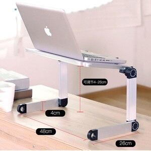 Image 3 - Alliage daluminium ordinateur Portable pliable réglable bureau dordinateur Portable ordinateur Table support plateau ordinateur Portable tour PC Table de bureau pliante