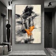 Абстрактная Обнаженная женщина художественная фигурка плакаты