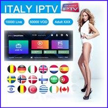 Italy IPTV Subscription 6000+Live IPTV Italian Germany Albania USA Turkey Arabic IPTV adult  Android tv Smart TV Box M3u Enigma2 gotit pakistan iptv s905 amlogic s905x 4k smart android tv box 4500 live germany albania indian usa south america smart tv box