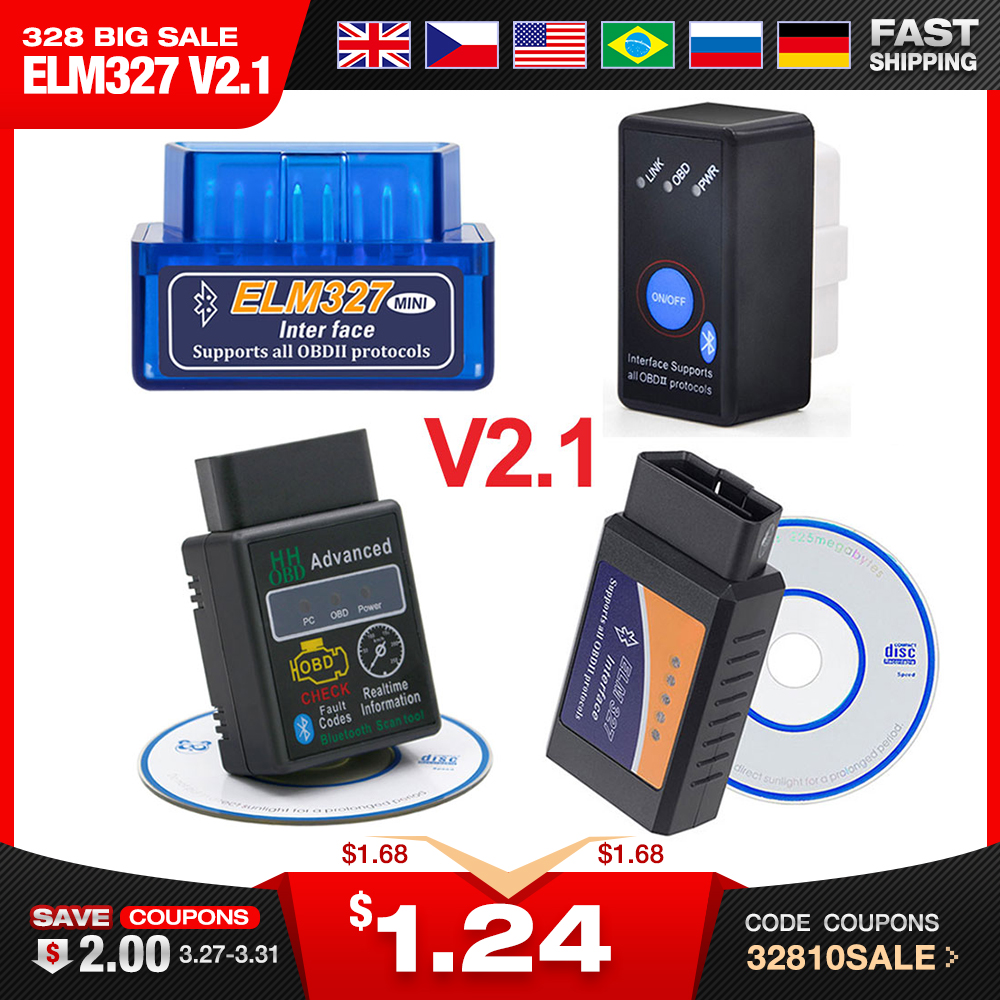 ELM Code-Reader Torque V2.1 2-Interface obd2-Scanner Elm327 Bluetooth MINI Android Super title=