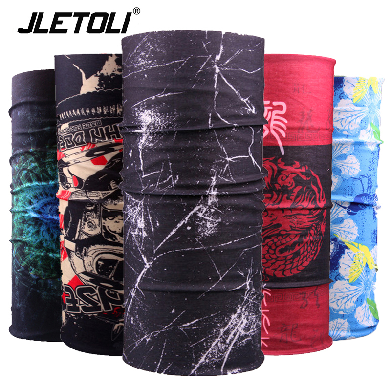 JLETOLI Windproof Cycling Scarf UV Protection Face Mask Outdoor Hiking Headwear Bandana Neck Scarves Wraps Bicycle Pirate Hat