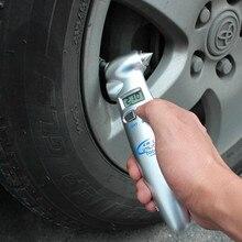 цена на Portable Digital Tire Pressure Gauge Bicycle Bike Car Diagnostic Tool LCD Air Pressure Monitoring Gauge Tester Safety Hammer