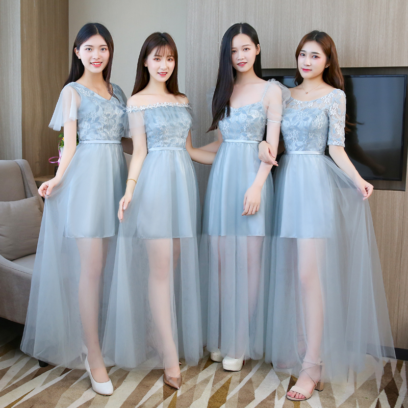 Floor-Length Tulle Plus Size Bridesmaid Dress Elegant Long Dress Wedding Party for Woman Graduation Sexy Prom Bandage Vestidos