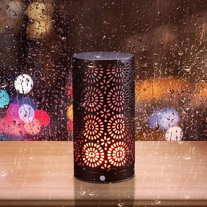 Simulated Flame LED Light Rechargeable Magnetic Force Flame Effect Fire Light Waterproof Gravity Sensor Flame Decoration Lights