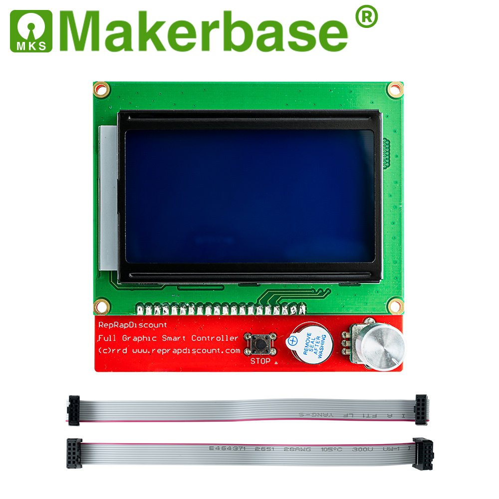 Makerbase  LCD 12864 LCD Control Panel 12864lcd display for 3D Printer parts  full Graphic smart controller Reprap