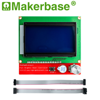 Makerbase  LCD 12864 LCD Control Panel 12864lcd display for 3D Printer parts  full Graphic smart controller Reprap|reprap 3d|display 3d|display 3d printer -