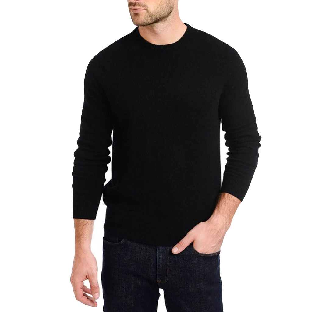 Men's Sweater Solid O Neck Sweaters Long Sleeves Pullovers Knitted Autumn Winter Male Clothing Pullover Jumper Slim L30824