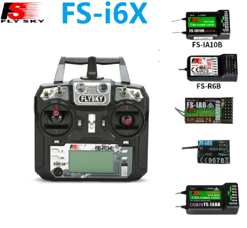 Flysky I6X FS-i6X 10CH 2 4G AFHDS 2A RC Transmitter control With FS-iA6B FS-iA10B FS-X6B FS-A8S IA6 A8S Receiver For Rc Airplane