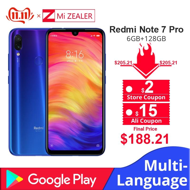 Global ROM Xiaomi Redmi Note 7 Pro 6GB 128GB Mobile Phone 6.3'' 4000 MAh 48MP AI Smart Camera Cellphone