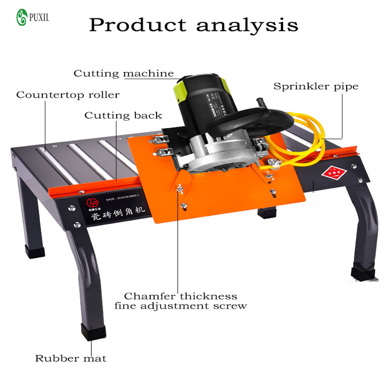 Desktop Tile Cutter 45 Degree Dust-free Edge Cutting Machine