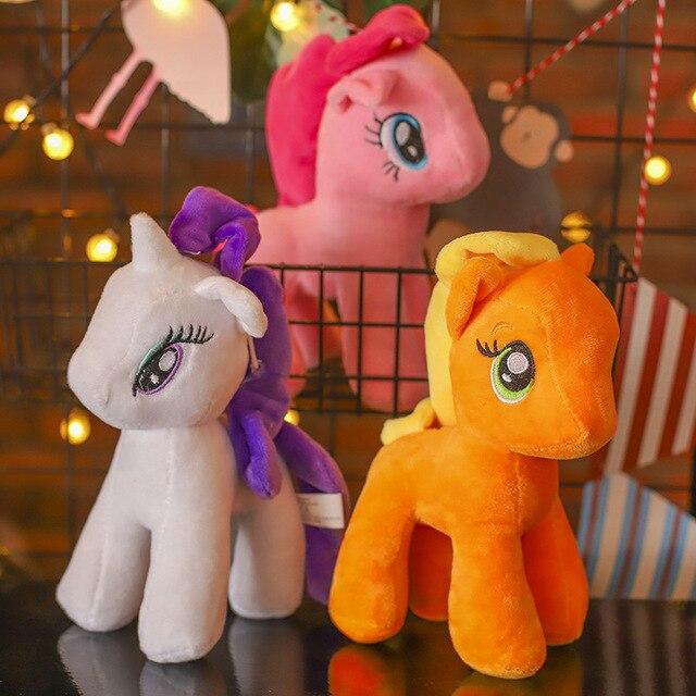 Hasbro – poupée en peluche mon petit poney en peluche, Kawaii, princesse magique damitié, jambe courte, licorne arc-en-ciel
