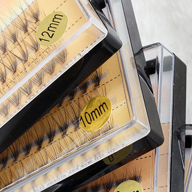 Natural long Individual Flare Lashes Cluster False Eyelashes 60 bundles/boxes 2