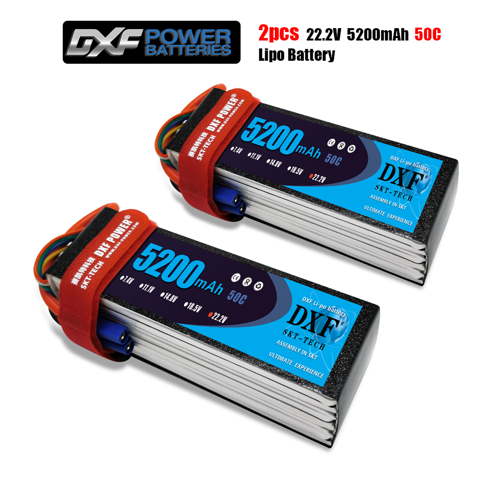 DXF <font><b>6S</b></font> 22.2V <font><b>5200mah</b></font> 50C-100C <font><b>Lipo</b></font> Battery <font><b>6S</b></font> XT60 T Deans XT90 EC5 For FPV Drone Airplane Car Racing Truck Boat RC Parts image