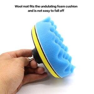 Image 3 - Kit de tampons de polissage pour polisseuse automobile, 8 pièces, filetage 3/4/5/6 pouces, pour outils électriques M10 M16
