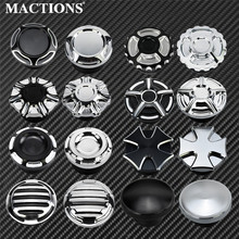 Motorcycle Gas Tank Oil Cap Vented Fuel Gas Tank 16 Type Aluminum For Harley Sportster XL Dyna Softail Touring Road King 883 48 gas tank motorcycle for harley davidson sportster xl 1200 883 x48 dyna fuel gas tank rough crafts decorative oil cap aluminum