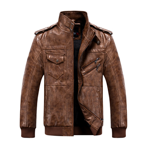 Image 4 - Mens Pu Jacket Winter Leather Hooded Biker Coat Men 2019 Streetwear Fleece Zipper Jacket with Detachable Hat Casual Overcoats