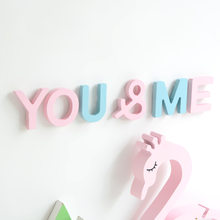 Colorful English Letters Decorative Wooden Alphabet Wedding Name Decorative Design Children's Room Decoration Shooting Props(China)