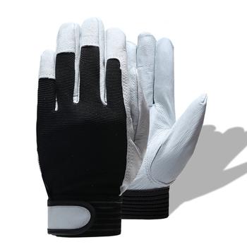 HENDUGLS 1 para gorąca sprzedaż D wysokiej jakości skóra rękawice robocze rękawice odporne na zużycie ochronne rękawice robocze mężczyźni Mitten darmowa wysyłka 508 tanie i dobre opinie Skórzane CN (pochodzenie) RĘKAWICE ROBOCZE ISO9001 CE Genuine Leather + Stretch Cloth None Velcros 2019 01 30 Four Seasons