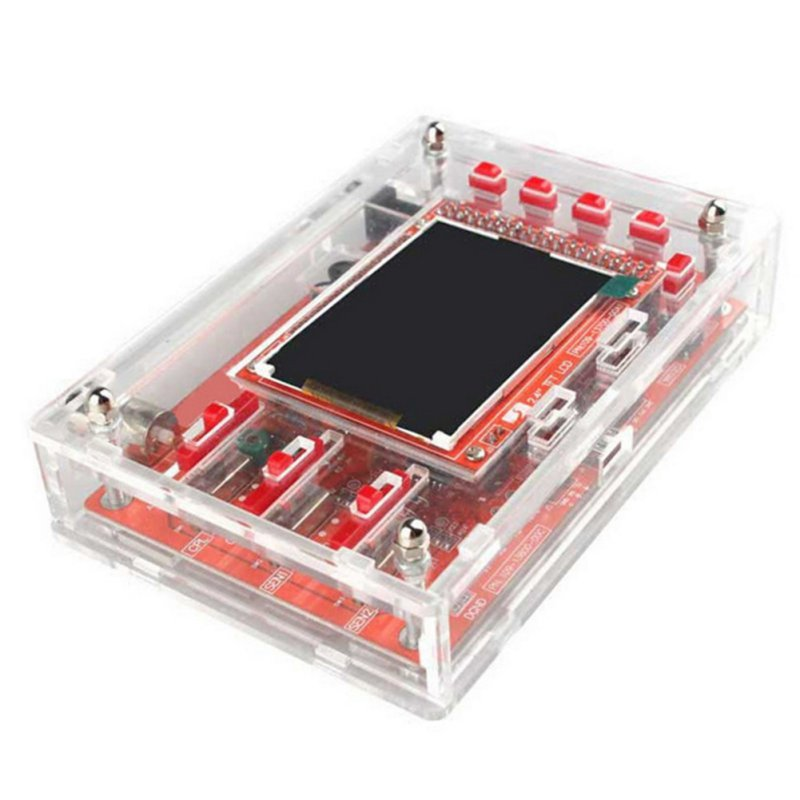 DSO138 DIY Handheld Pocket-size Digital Oscilloscope Kit SMD Soldered + Acrylic DIY Case Cover Shell For DSO138