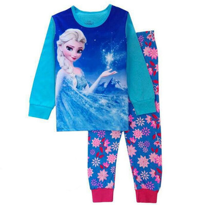 2020 kids cotton pajamas frozen sets elsa sleepwear baby girls cartoon pijamas nightwear clothes