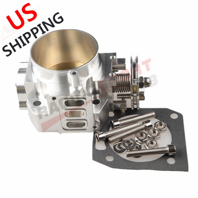70mm Throttle Body For Honda RSX DC5 <font><b>CIVIC</b></font> SI EP3 K20 <font><b>K20A</b></font> CNC T6 Aluminum U.S. image