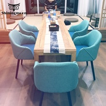Modern Dining Room Chairs Restaurant Design Chair Conference Room Wooden Vanity Chair Nordic Furniture Negotiate Soft Chair