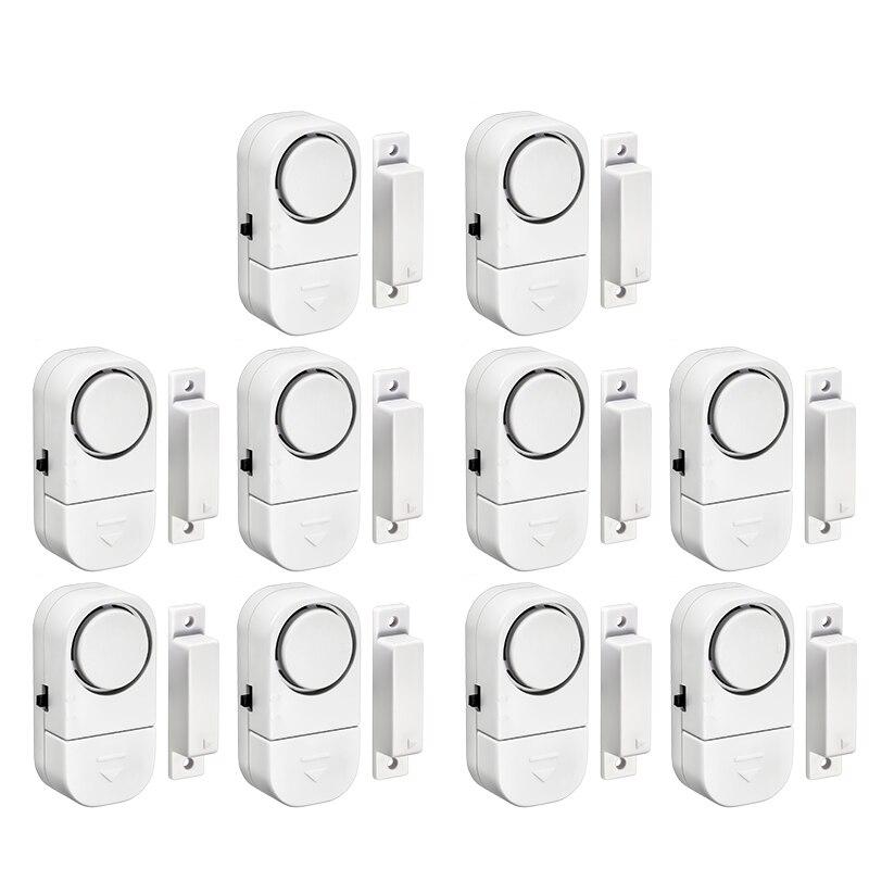 10pcs Standalone Magnetic Sensors Independent Wireless Home Door Window Entry Burglar Alarm Security Alarm Guardian