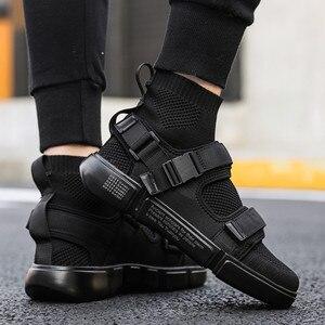 Image 1 - 2019 nouveaux hommes chaussures décontractées hommes mode baskets lumière tendance lumière marche chaussures homme travail chaussures haute qualité Sneaker marque chaussures plates