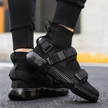2019 חדש גברים נעליים יומיומיות גברים של אופנה נעלי ספורט אור מגמת אור הליכה נעלי גבר נעלי עבודה גבוהה באיכות Sneaker מותג דירות
