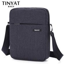 Мужская сумка через плечоTINYAT, сумки противоударные, повседневная сумка через плечо, холщовая сумка-слинг, сумка для 9,7' pad, сумка на плечо водонепроницаемая