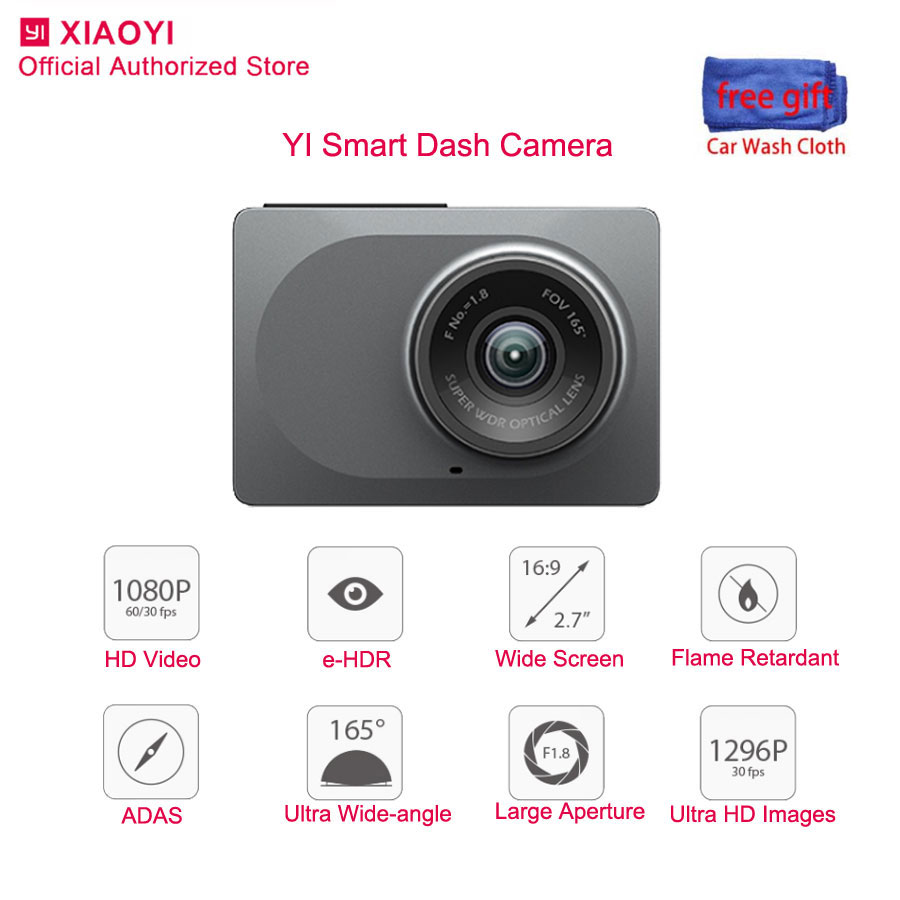 Xiaomi Yi Smart Dash Cam Night Vision Car camera Dvr 1080P 2.7