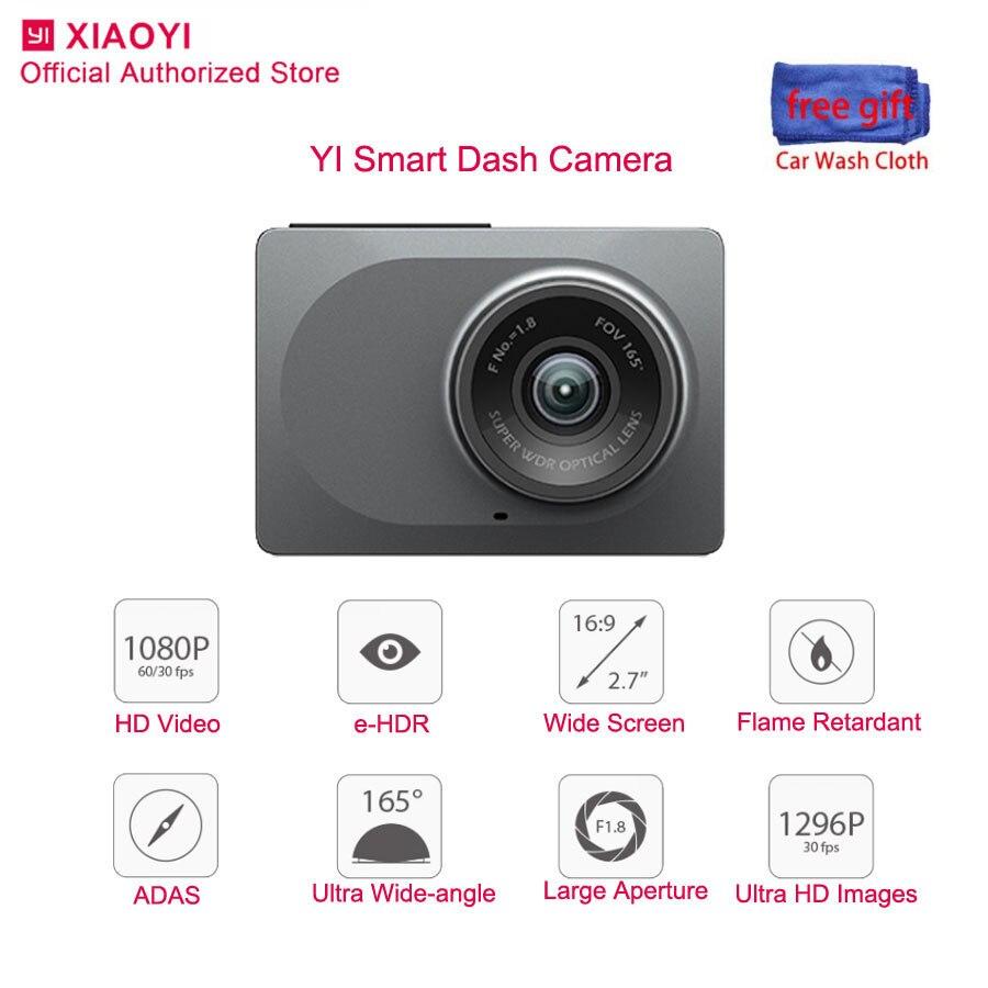 Yi original inteligente traço cam visão noturna câmera do carro dvr 1080 p 2.7