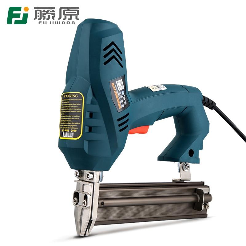 FUJIWARA Electric Nail Gun 1-use 2-use Nailer Stapler F30 422J Nails Woodworking Tools Ejection Device