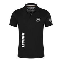 2021 ducati logotipo do carro de algodão alta qualidade camisa polo dos homens sólido manga curta moda camisas casuais masculino esporte faculdade impressão topos