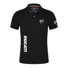 Ducati Voiture Logo Coton Haute Qualité Hommes Chemise Polo Manches Courtes Mode Chemises Décontractées Mâle Sport Collège Imprimer Hauts