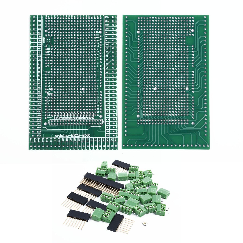 SET Of MEGA-2560 R31 Prototype Screw Terminal-Block-Shield-Board-Kit For Arduino