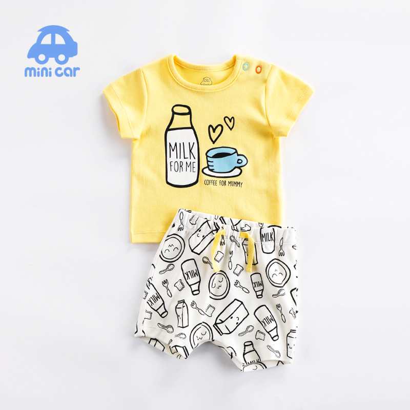 Brand Cotton Baby Sets Leisure Fashion Summer Clothes Boy T-shirt + Shorts Sets Toddler Clothing Baby Boy Clothes Newborn 2