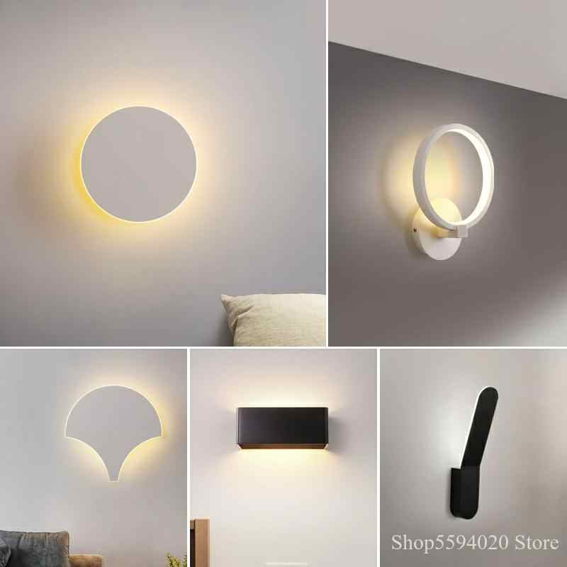 modern led indoor wall lamps minimalist led wall sconce lights for bedroom living room stair lampara wall mount lighting fixture