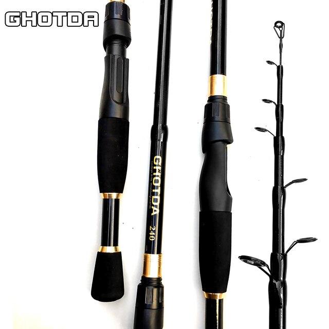 GHOTDA Telescopic Fishing Rod Ultralight Weight Spinning 2.4-1.6m