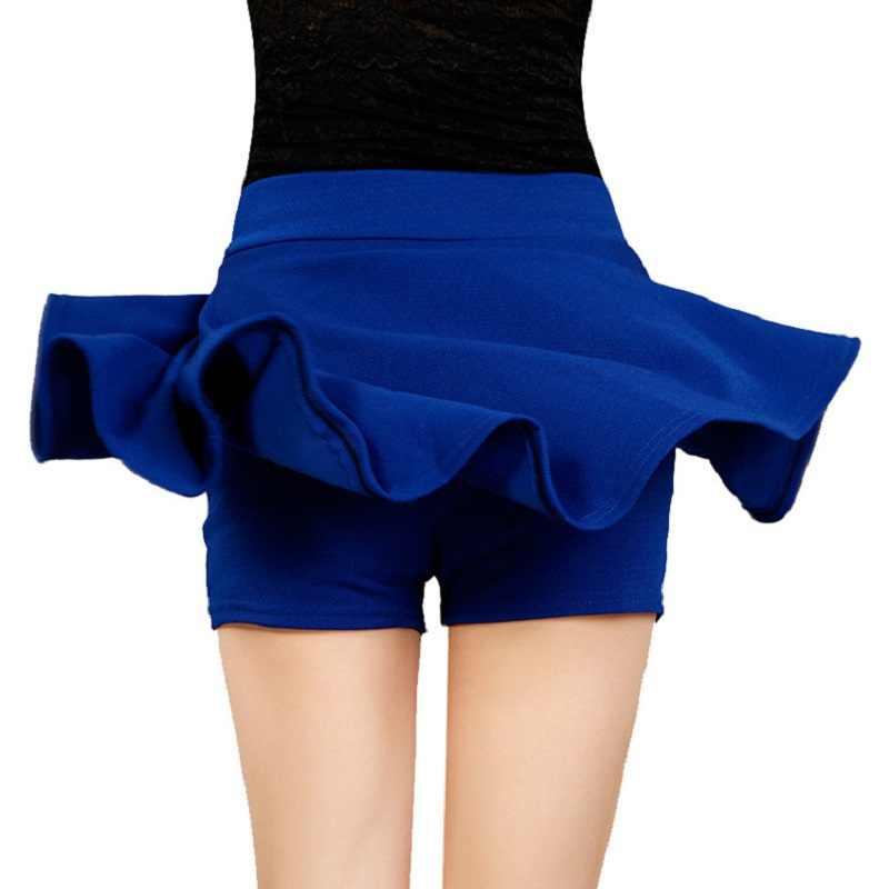 Retro 2020 mujer Shorts falda moda alta cintura Sexy Falda Mujer Oficina femenina elástica Mini falda otoño Mujer