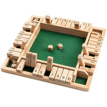Wooden-Board Numbers Montessori-Toys Puzzle Table Flip-Game Gifts Parent-Child Family