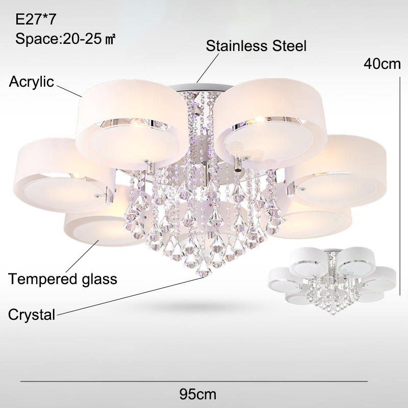 Modern crystal Ceiling Lights living fashionable design light dining changeable led ceiling lamp bedroom white shade Modern crystal Ceiling Lights living fashionable design light dining  changeable led ceiling lamp bedroom white shade acrylic