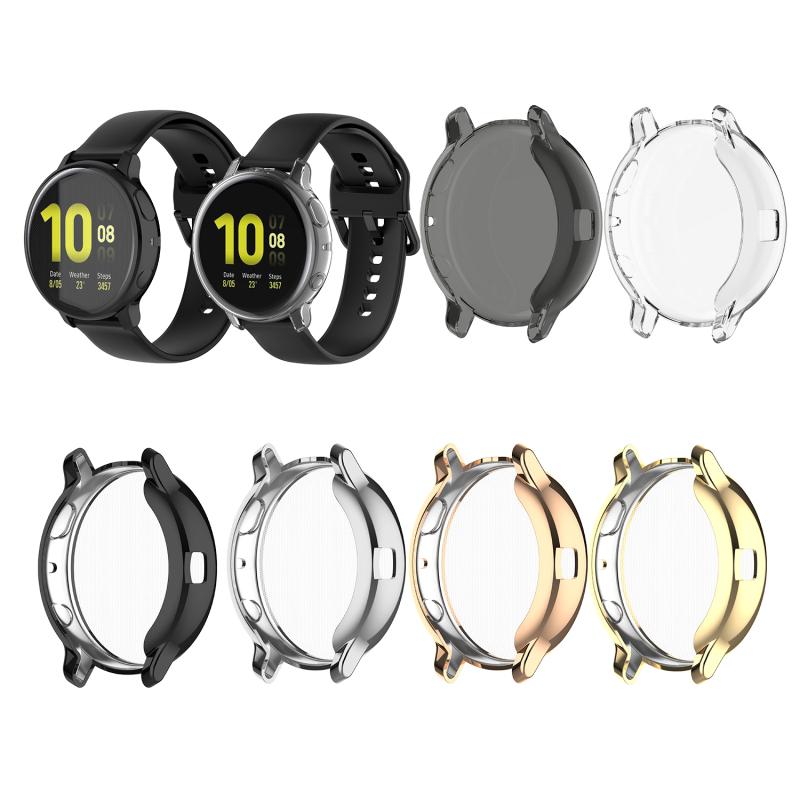 Cover For Samsung Galaxy Watch  Active2 44mm 830 Plated Soft TPU Bumper Smart Watch Accessories Protective Case Handbag Case